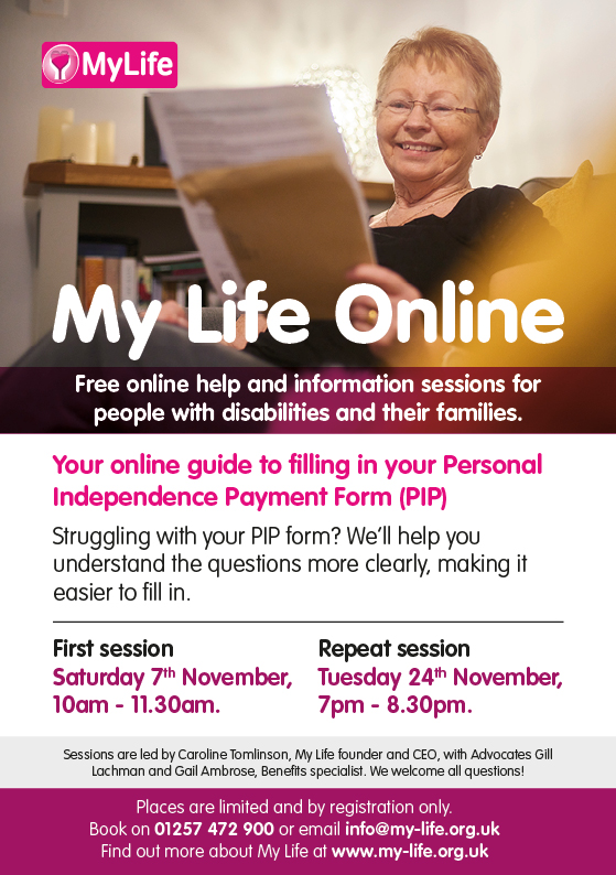 Struggling to fill in your PIP form? Register for our online help session THIS SATURDAY!