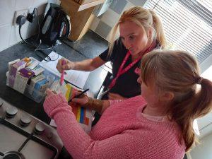 Clinical Lead Kelly Robinson at work training My Life staff